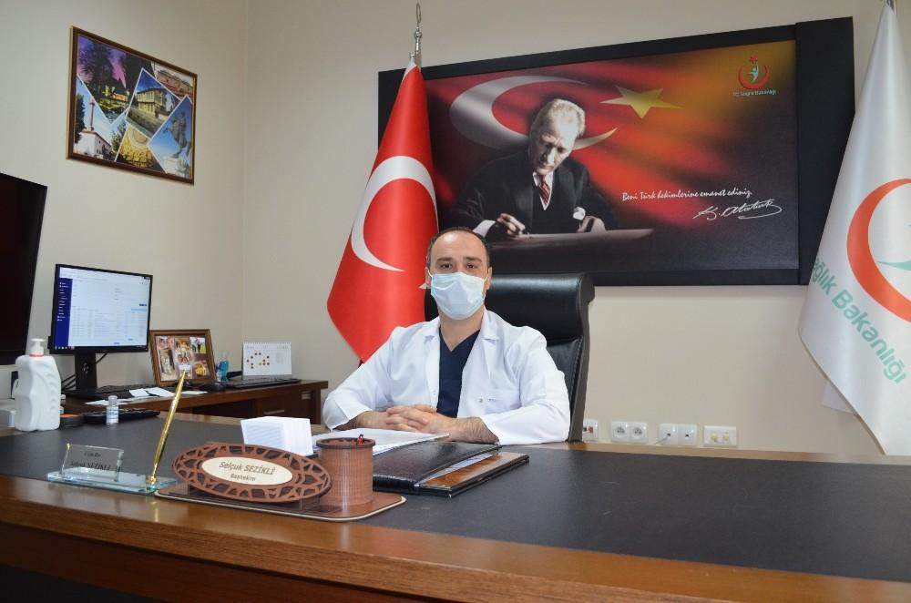 Merzifon'da sağlık çalışanlarına 2. doz aşı