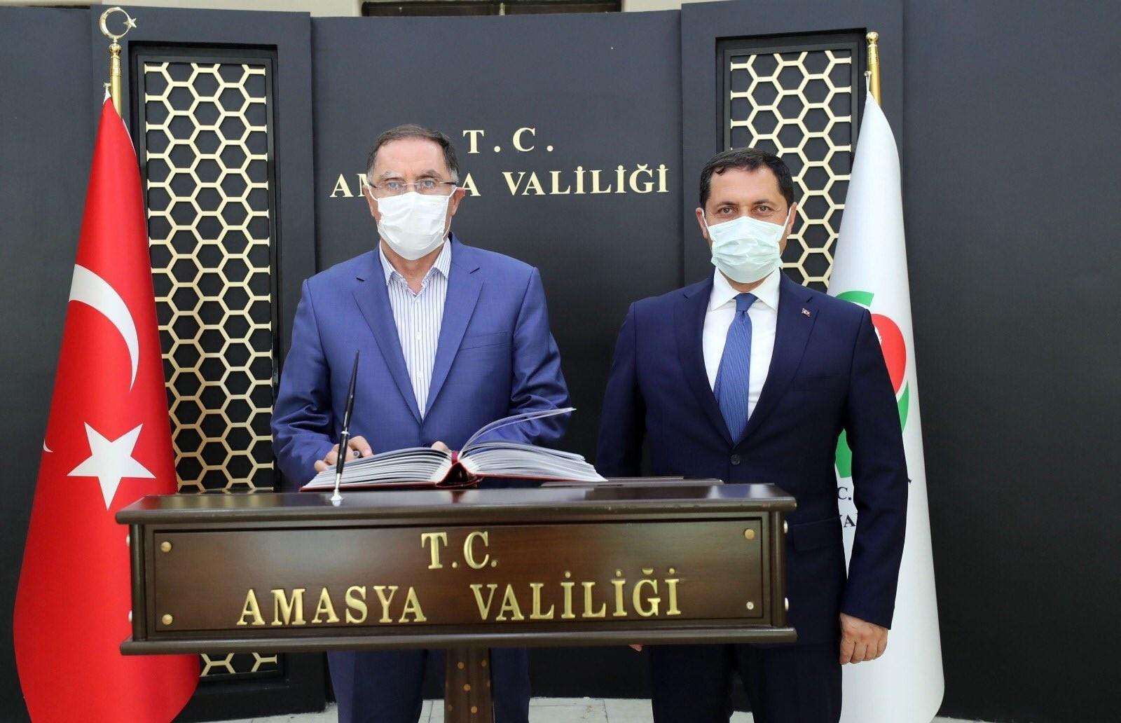 Kamu Başdenetçisi Şeref Malkoç'tan Vali Masatlı'ya ziyaret