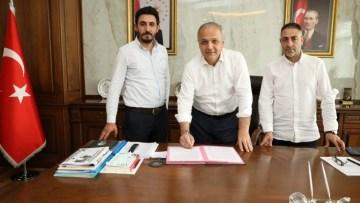 Suluova'da yeni kapalı spor salonu için imzalar atıldı