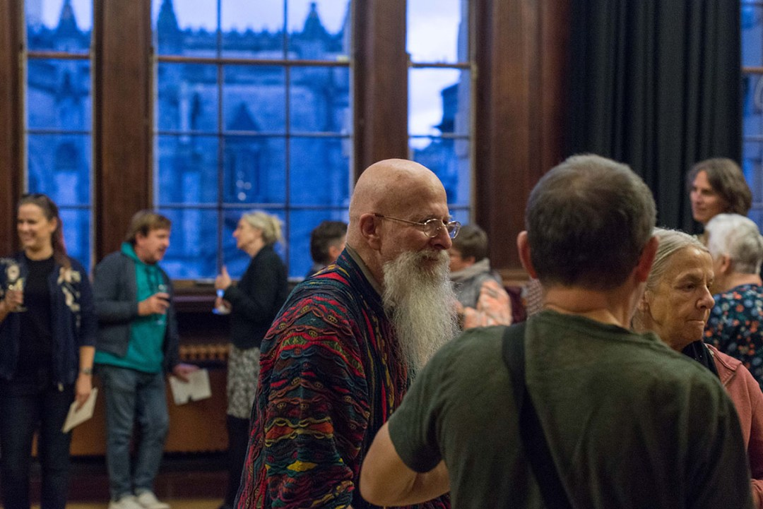 Guests at opening reception at French Institute, Edinburgh