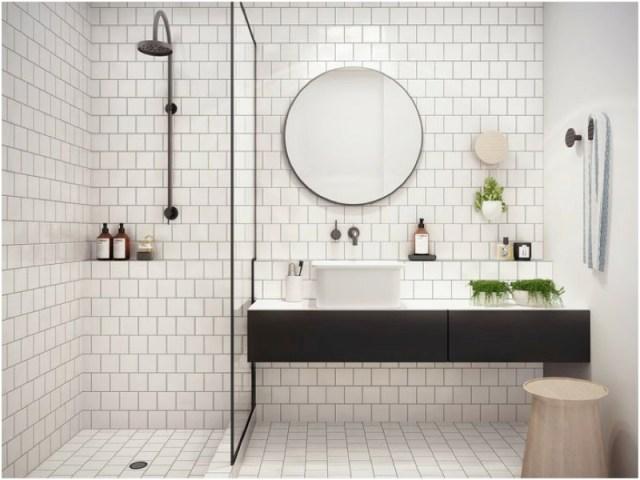 Bagno dalle linee pulite ed essenziali