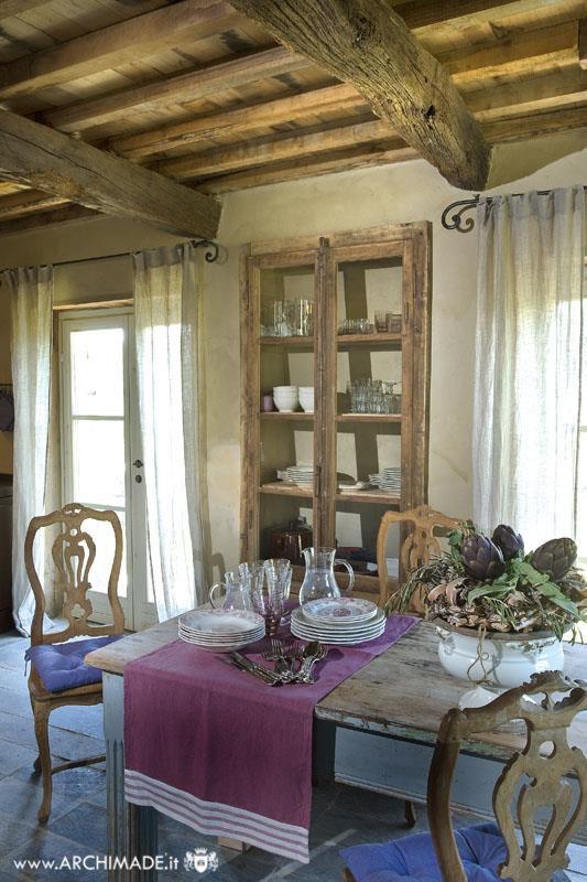 Sala da pranzo rustica e chic