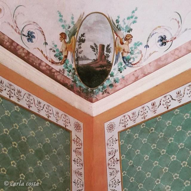 Decorazione murale a Villa Forni