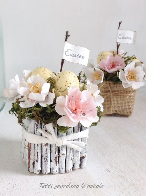 Decorazioni fresche e naturali per la casa di Pasqua