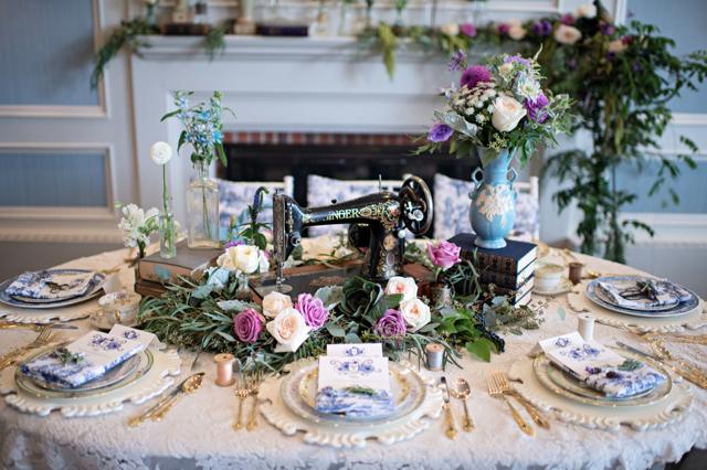 Un table setting retrò per il matrimonio