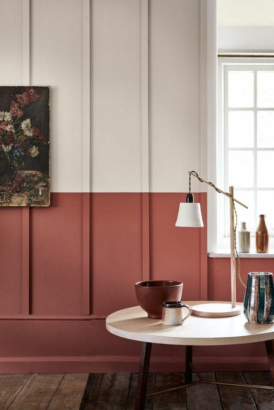 I colori ruggine e terracotta per le pareti