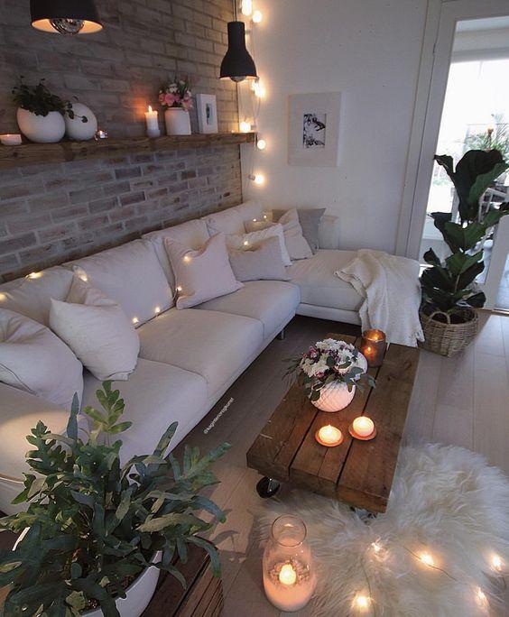Fili luminosi per il soggiorno d'inverno