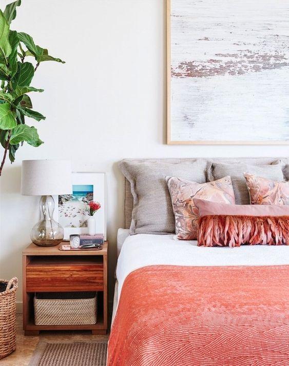 Tessuti Living Coral per la camera da letto