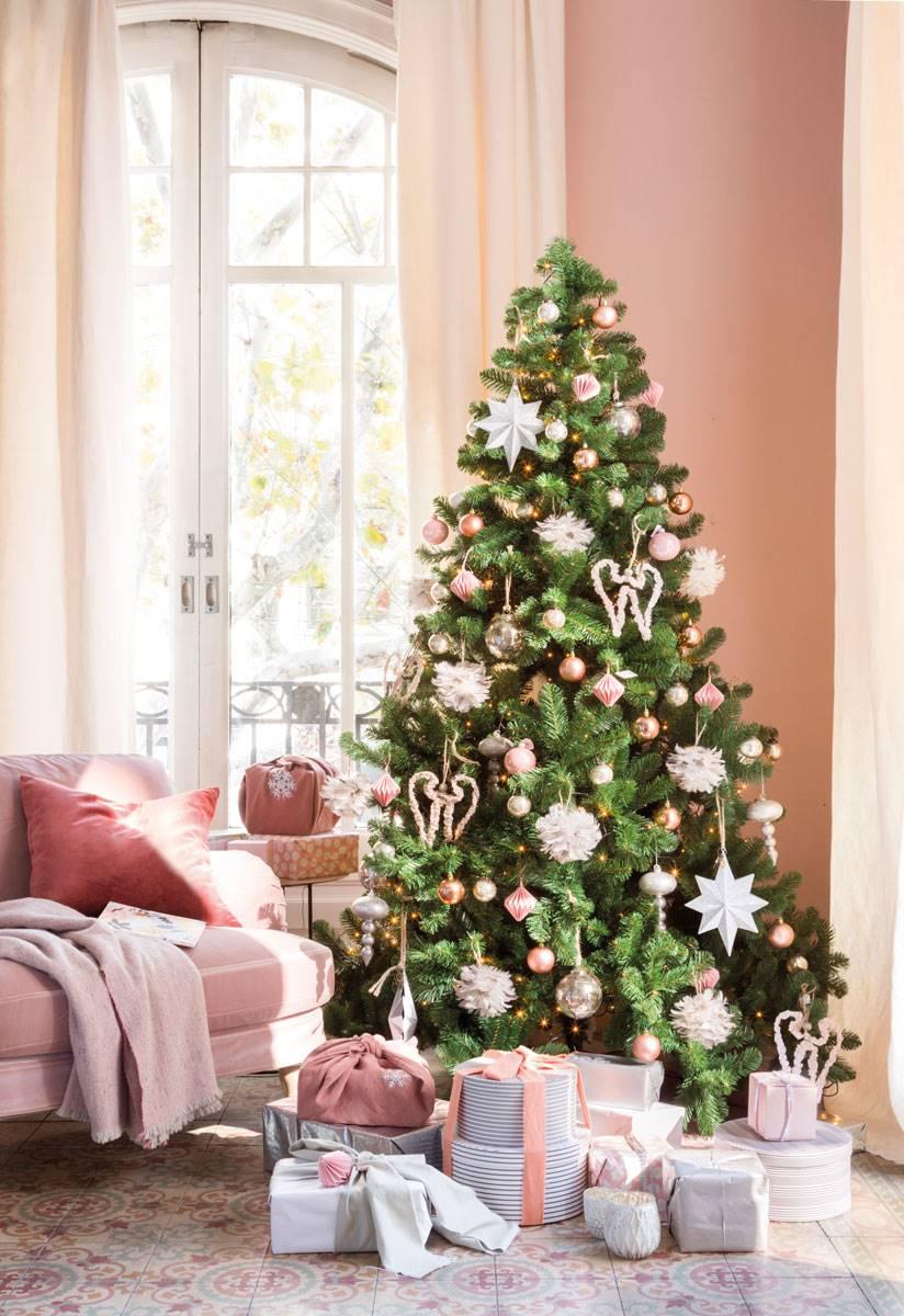 Natale di tendenza: oro, rosa e blu