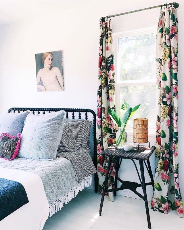 Camera da letto in stile botanico