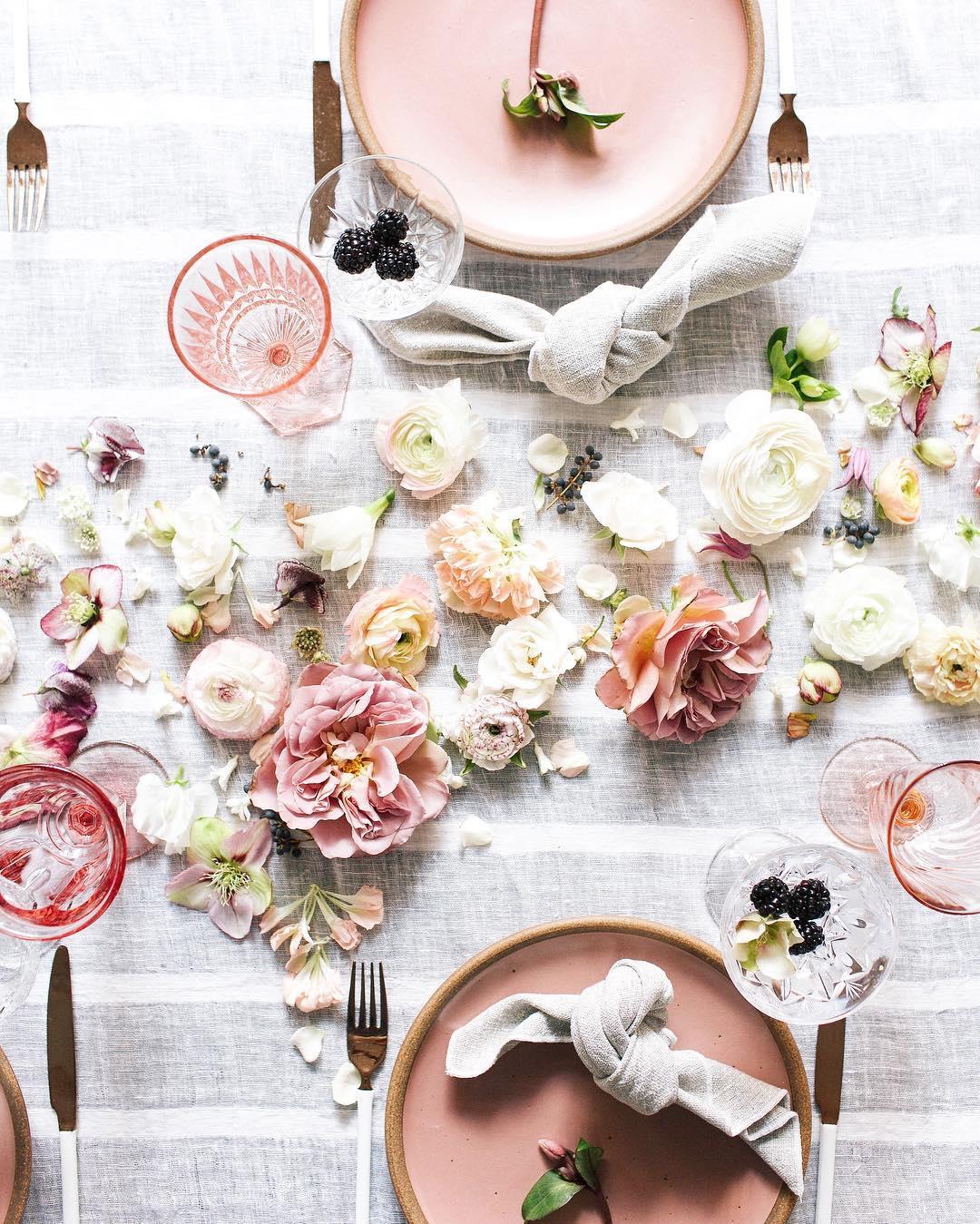 Idee per decorare la tavola di primavera
