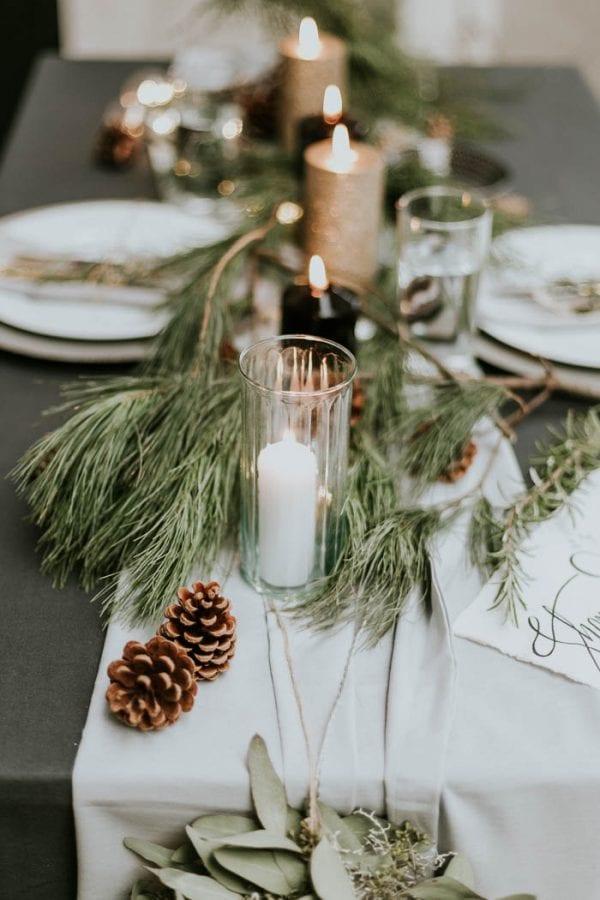 Centrotavola per il matrimonio d'inverno