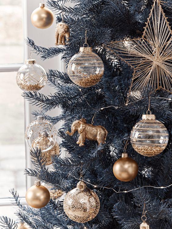 Natale classic blue e oro