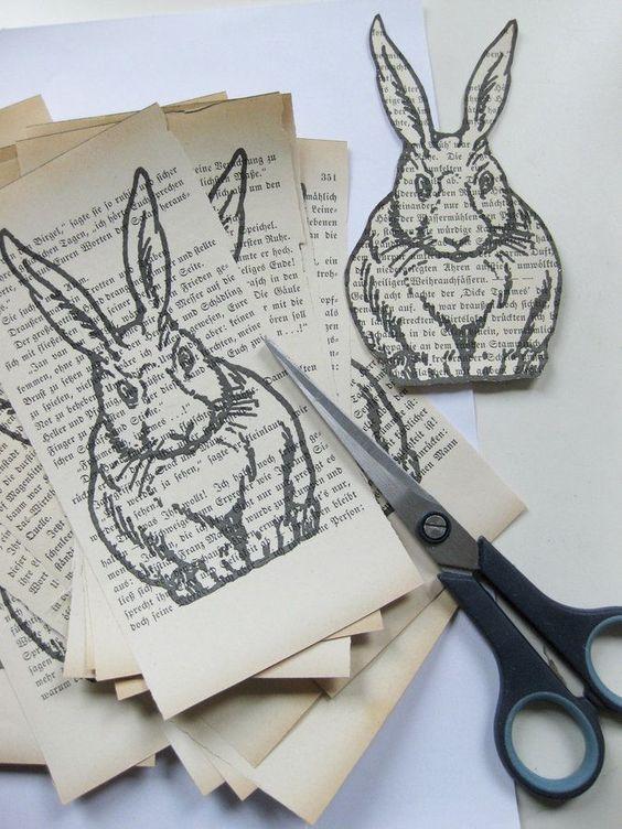 Coniglietto pasquale di carta