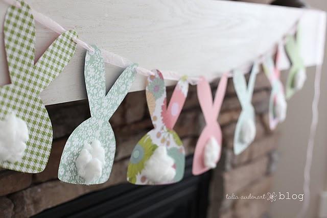 Ghirlanda di Pasqua con coniglietti