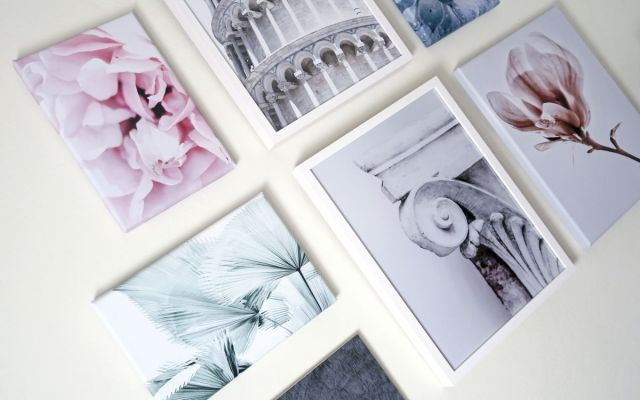 Gallery wall con stampe fotografiche di Posterlounge