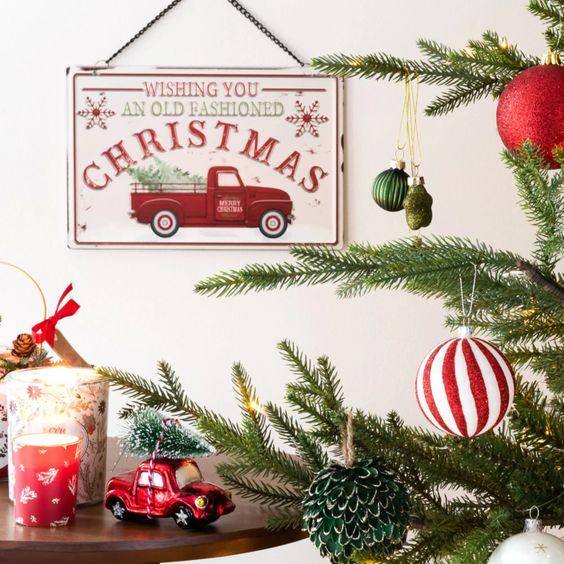Decorazioni di ispirazione old America per una perfetta atmosfera di Natale vintage