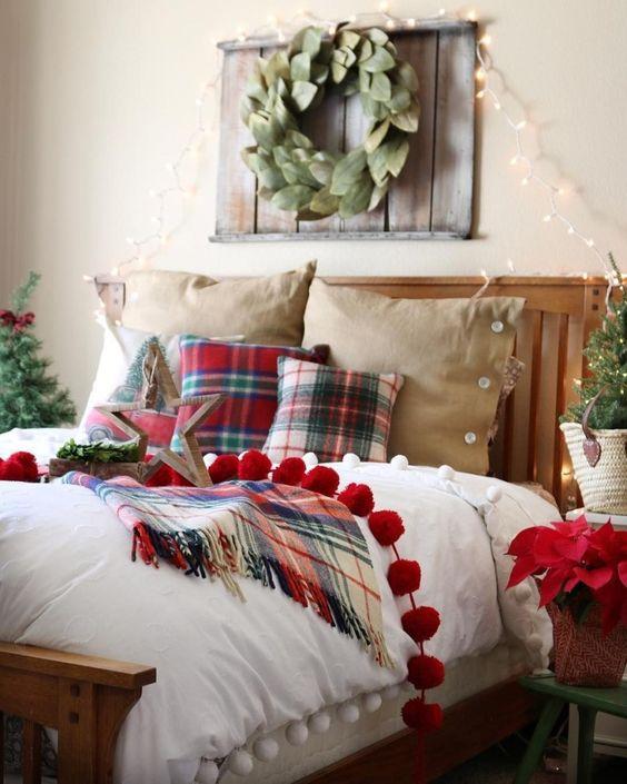 Fili di luce per camera da letto natalizia