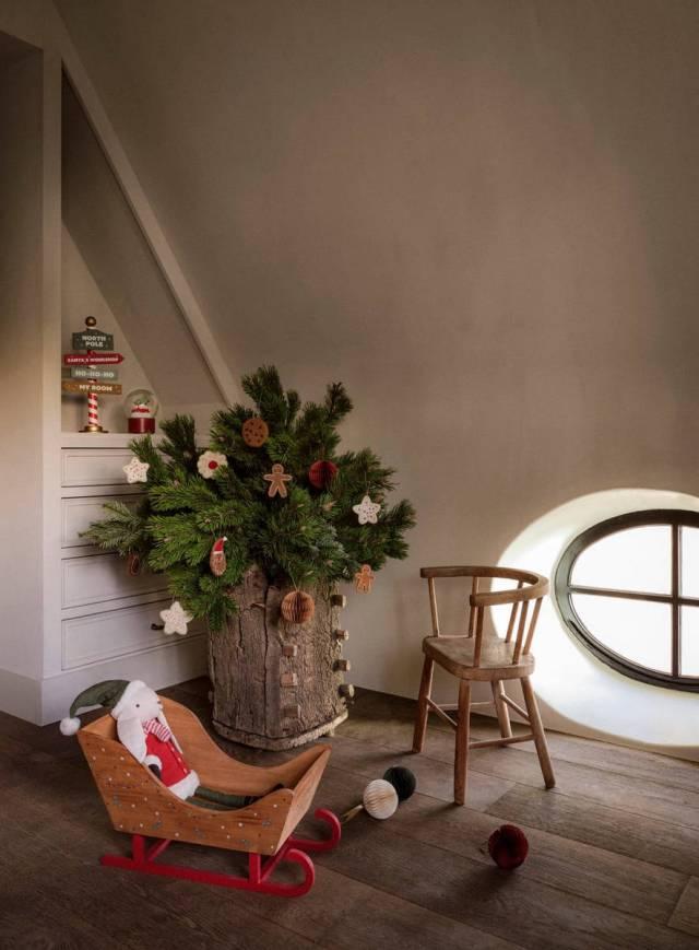Albero di Natale naturale per la camera dei bambini di Zara Home