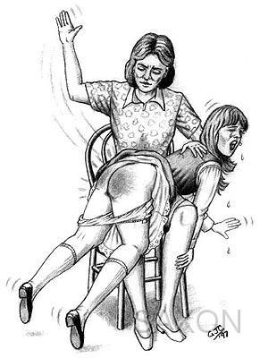 edwardian spanking drawings