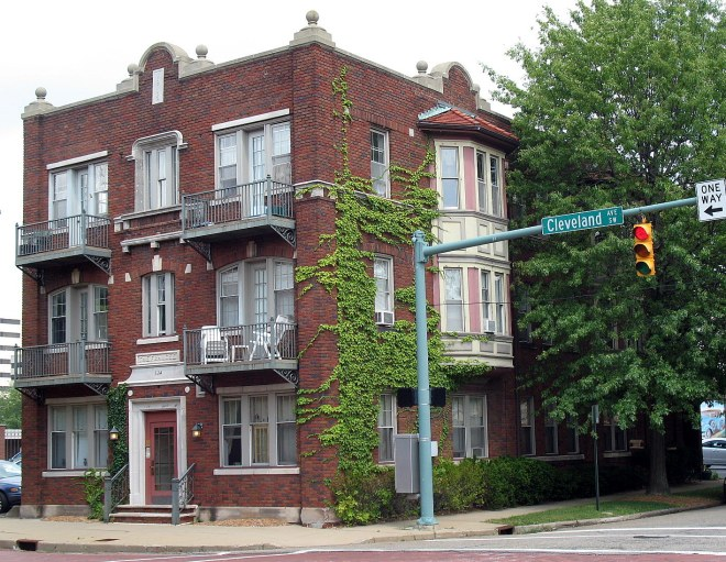 Frances Apartment Building, 534 Cleveland Ave., SW, Canton, OH via Wikimedia Commons
