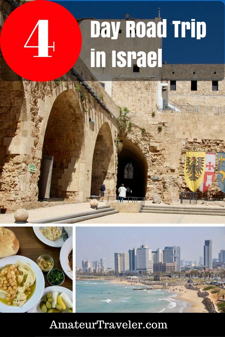 4 Day Road Trip in Israel - Biblical Sites, Ruins, Castles & Humus