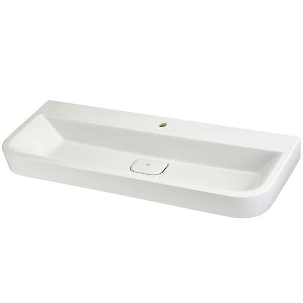 dxv d20077001 415 equility 47 inch wall hung trough bathroom sink single faucet hole