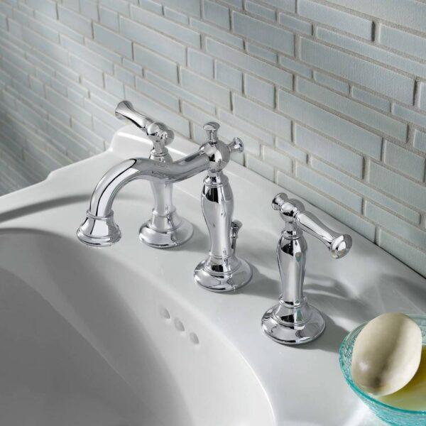 american standard 7440851 002 quentin 2 handle 8 inch widespread bathroom faucet