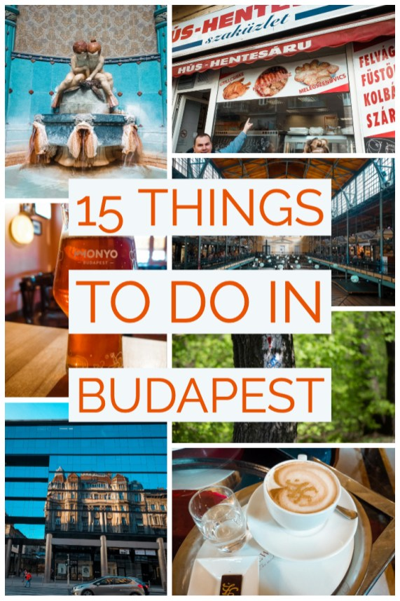 15 things to do in Budapest collage of photos from the article