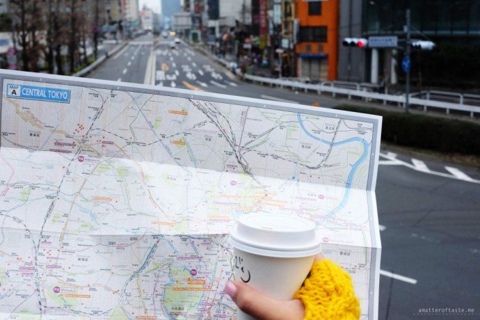 Tokyo map and coffee