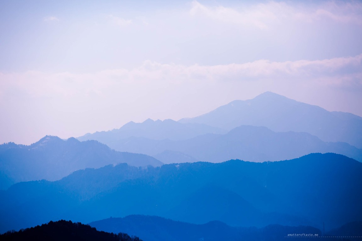 """Japanese Alps seen from mt Takao by """"a matter of taste"""""""