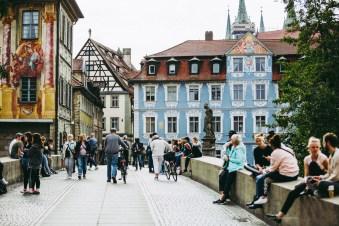 Bamberg Germany road trip bridge city