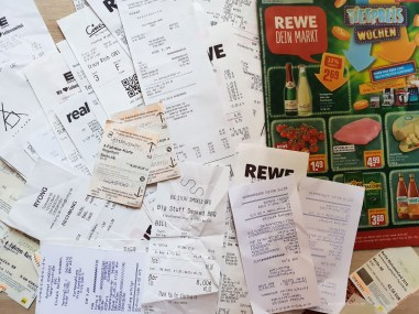 Berlin shopping prices receipts