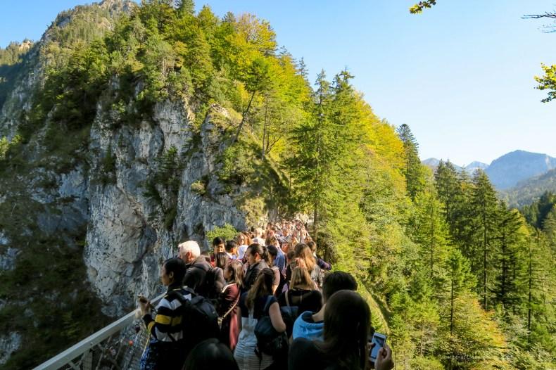 Germany road trip Neuschwanstein castle crowds
