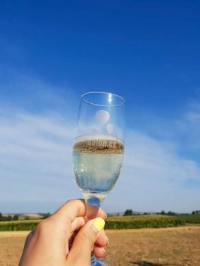Hot air balloon champagne
