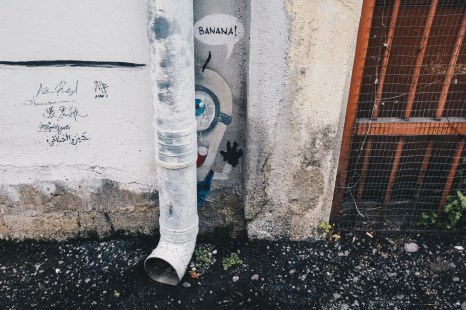 Ipoh street art banana