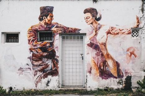 Ipoh street art dancers