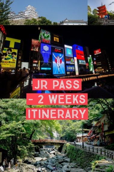 JR Pass 2 weeks itinerary