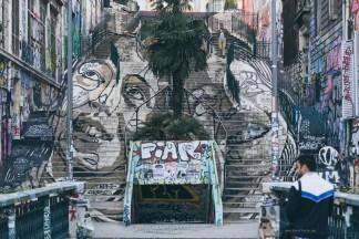 Marseille stairs street art