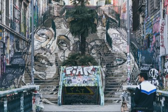 Marseille stairs street art