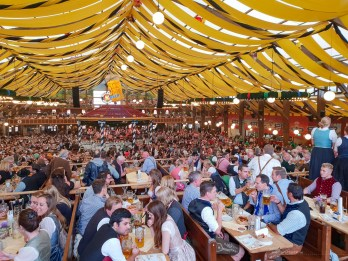 Oktoberfest Munich road trip Paulaner tent party