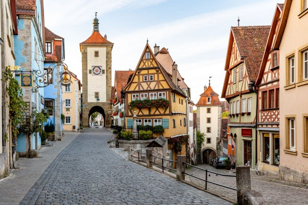 Rothenburg ob der Tauber germany sunrise postcard