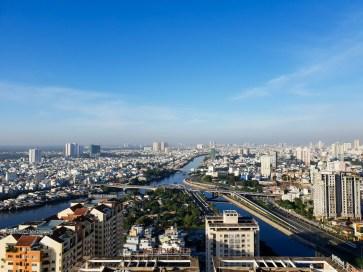 Saigon district 4 view day