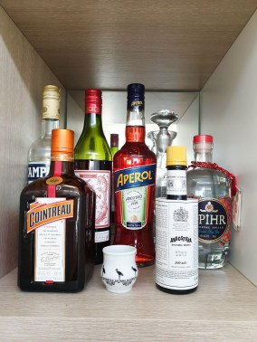 bar shelf in isolation