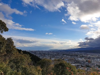 life in Kyoto hike view