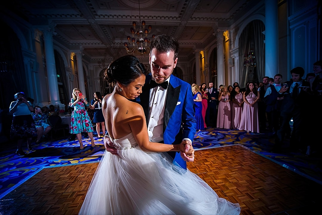 Corinthia Hotel Wedding Photographer the romantic first dance