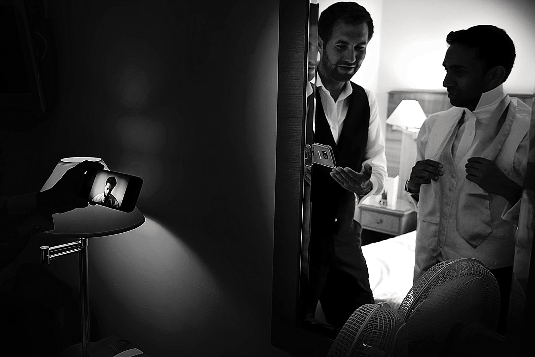 vill Court Wedding Photography groom getting ready