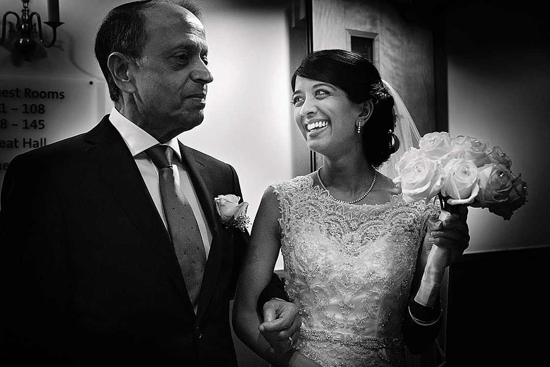 vill Court Wedding Photography Bride and her father