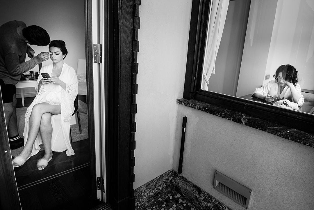 Bridal Prep at Lake Como