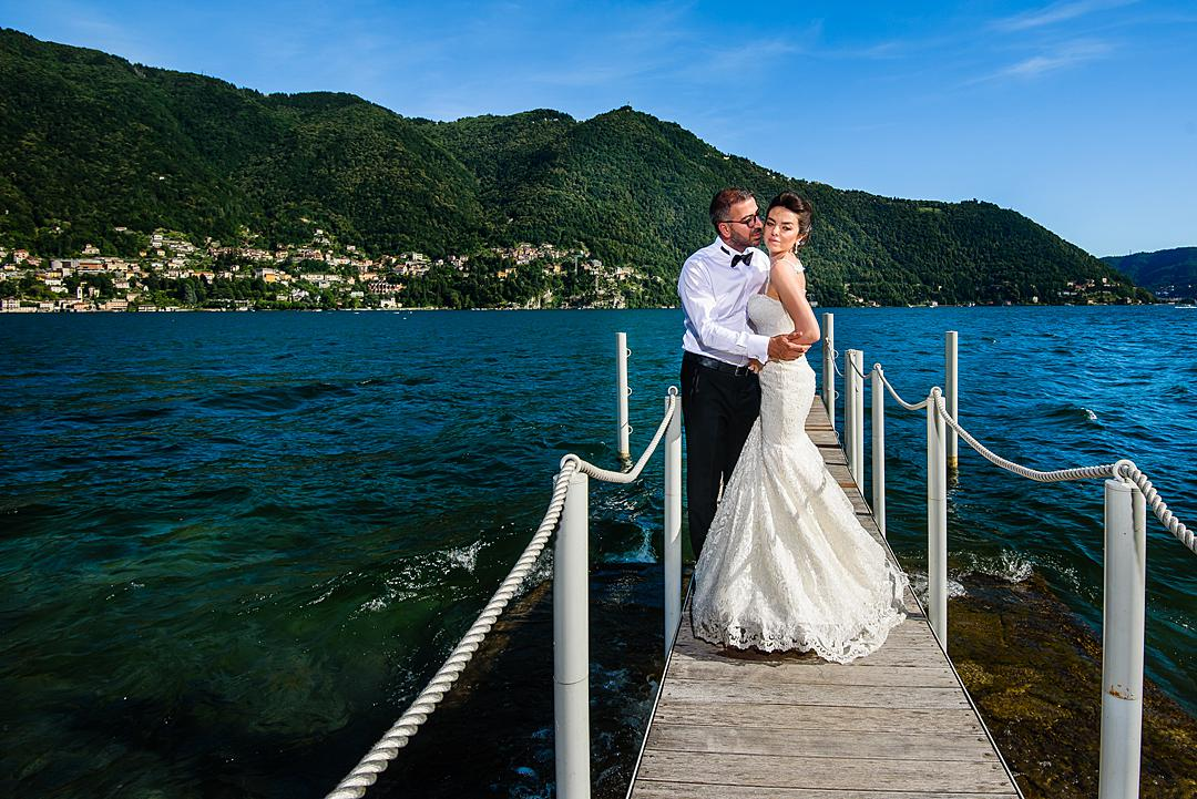 Couple Portrait at Lake Como